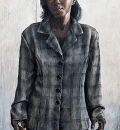 Betty's Own World - 2015 - 36 x 15 inches - Egg tempera