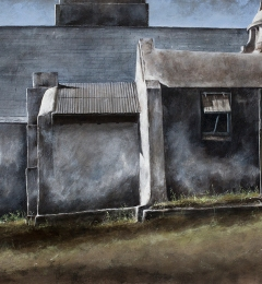 John Hawes' sanctuary - 2015 - 20 x 40 inches - watercolour on canvas
