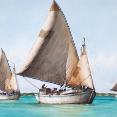 Going Down the Harbour - 2003 - 28 x 37 inches - Watercolour