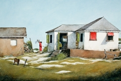 On Top of the Hill - 2000 - 39 x 22 inches - Watercolour