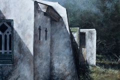 John Hawes' sanctuary - 2015 - 32 x 25 inches - Mixed media on canvas