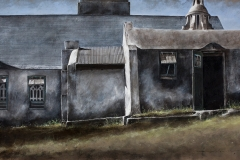 John Hawes' sanctuary - 2015 - 20 x 40 inches - watercolour on canvas
