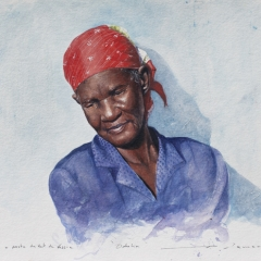 Study for Silk Hair - 9 x 13 inches - Watercolour